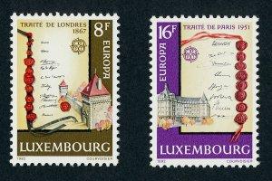 Luxembourg 672-3 MNH Europa, Architecture, Treaty of London