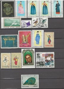 COLLECTION LOT # 4198 NORTH KOREA 18 STAMPS + 2 SS 1960+ CV+$10