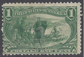#285 1c Trans Mississippi Expo: Jacques Marquette 1898 Used