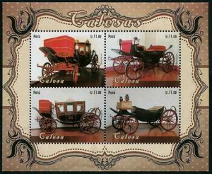 HERRICKSTAMP PERU Sc.# 1881 Carriages S/S