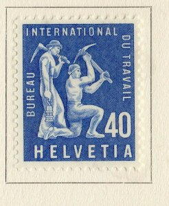 Switzerland Helvetia 1956 Early Issue Fine Mint Hinged 40c. NW-170844