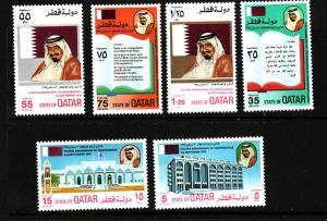 D3-Qatar-Scott#86-90-Unused hinged set-Sports-Pan Arab Games