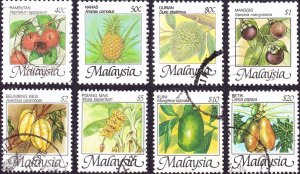 MALAYSIA 1986 40c to $20 Multicoloured Native Fruits of Malaysia SG344/351 Fi...