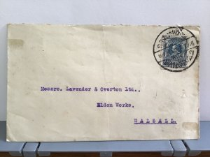 Siam to Lavender & Overton Ltd Walsall stamps cover R31732
