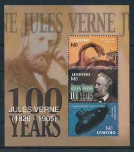 [107123] Lesotho 2005 Prehistoric animals dinosaurs Jules Verne Sheet MNH