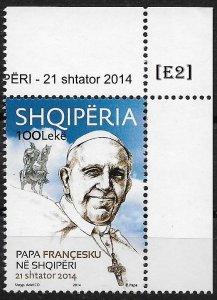[E2] Albania 2014, Pope Francis in Albania GimNr. 3608, MNH**
