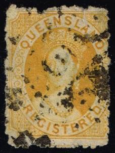 Australia-Queensland #F3 Queen Victoria; Used (50.00) (1Stars)