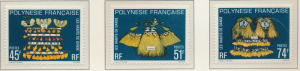 French Polynesia Stamps Scott #319 To 321, Mint Never Hinged, No Gum - Free U...