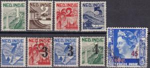 Netherlands Indies #263-71  F-VF  CV $3.25  Z7