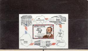 SIERRA LEONE 624 SOUVENIR SHEET MNH 2014 SCOTT CATALOGUE VALUE $3.00