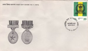 INDF223) FDC India 1974 Territorial Army