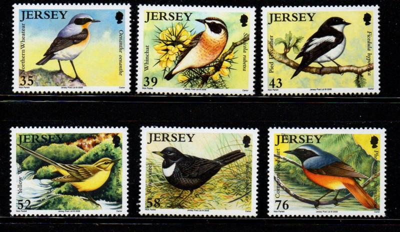 Jersey Sc 1342-7 2008 Migrating Birds stamp set mint NH
