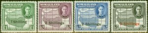 Somaliland 1951 set of 4 High Values SG132-135 Fine MNH