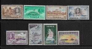 TONGA, 119-126, MNH, STAMPS OF 1953 & 1961 OVPTD