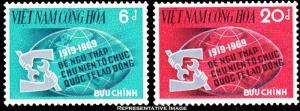 Vietnam Scott 362-363 Unused lightly hinged.