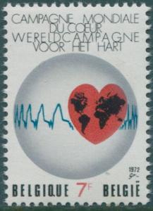 Belgium 1972 SG2269 7f Heart emblem MNH