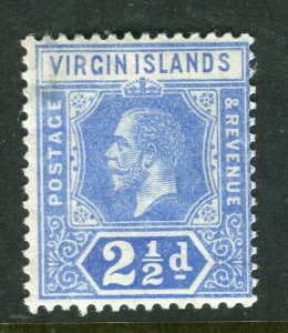 BRITISH VIRGIN ISL; 1912 early GV issue fine Mint hinged 2.5d. value