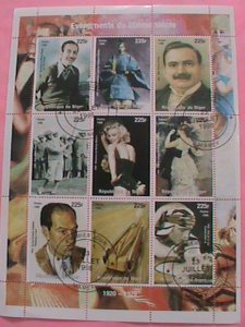 NIGER STAMP-1998- MARILYN MONROE FAMOUS PERSONS -CTO -MNH STAMP SHEET -RARE