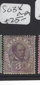 SARAWAK  (P2607B)   3C  SG 38    MOG