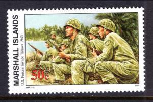 Marshall Islands 474 WWII US Forces Invade Tarawa MNH VF