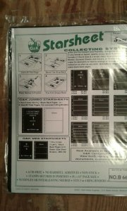 G&K Starsheet 2 sided Black Stockpages with 6 pockets --new/sealed package of 5