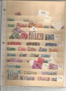 NIGERIA COLLECTION ON STOCK SHEET, MINT/USED