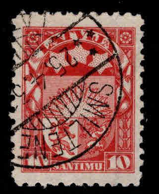 Latvia Scott 118 Used coat of arms stamp
