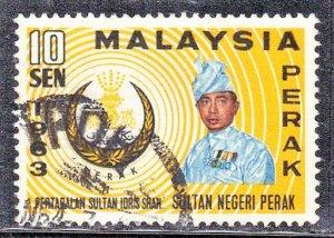 MALAYSIA-PERAK SC# 138 **USED** 1963  10c     SEE SCAN