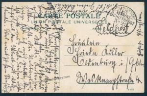 Germany WWI Turkey Navy Feldpost MSP29 SMS Goeben Cover 52934