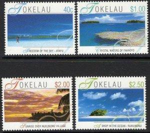 TOKELAU ISLANDS SG325/8 2001 ISLAND VIEWS MNH