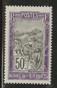 Madagascar Scott 102 MNH** 1908 issue