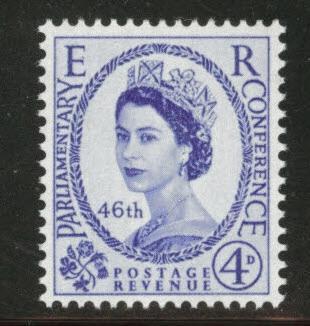 Great Britain Scott 337 MNH** 1957 4p QE2 stamp CV$1.10