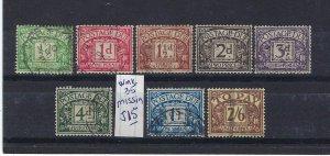 GREAT BRITAIN SCOTT #J9-J14 (MISSING J15) J16-J17 1924-30 DUES WMK 35  USED