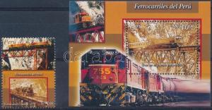 Peru stamp Train + block MNH 2004 Mi 1956 + 28 WS240105