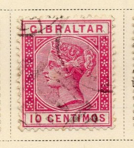 Gibraltar 1889 Early Issue Fine Used 10c. 326908