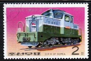 North Korea (PDR), Sc 1525, CTO-NH, 1976, Pulgungi Diesel Locomotive