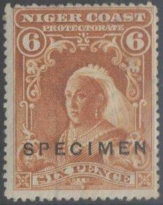 BC NIGER COAST 1897-98 QV Sc 60 SG 71 OVPTD SPECIMEN HINGED MINT