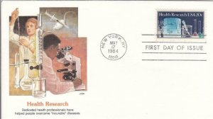 1984, Health Research, Fleetwood, Unaddressed, FDC (D8820)