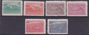 ALBANIA  1945  S G 429 - 434  SET OF SIX  BRIDGES   M / H