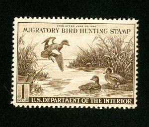 US Stamps # RW9 VF OG NH PO Fresh Catalog Value $225.00