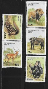Benin 1995 Wild animals Lion Sc 774-778 MNH A93