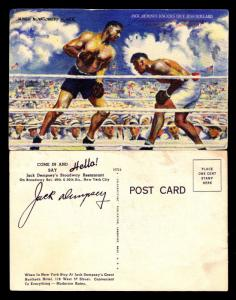 1919 UNUSED JACK DEMPSEY WORLD CHAMPION POST CARD - PRINTED SIGNATURE (ESP#4406)