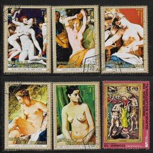 Equatorial Guinea   Famous Nude Paintings   Lot 2