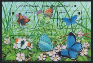 Jersey Butterflies and Moths 2nd series MS SG#MS1285 CV£10+