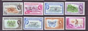 J22177 Jlstamps 1961 & 2 br honduras sets mh #159-62,163-6 ovpt,s