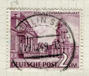 GERMANY; WEST BERLIN 1949 Buildings fine used 2DM. value