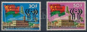 Comoroes stamp Football World Cup overprinted MNH 1978 Mi 444-445 WS240622