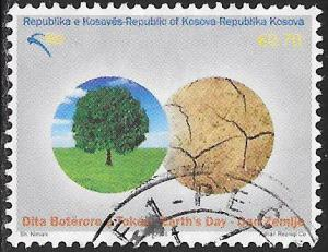 U.N. Kosovo 99 Used - Earth Day - Tree & Parched Land