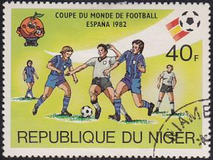 Niger 557 USED 1981 Spain '82 World Cup Soccer