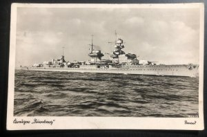 1935 Kiel Germany RPPC Real picture Postcard Cover Nurnberg Battle Ship